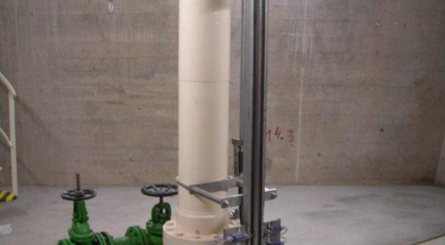 Servomotor (Cilindro Óleo-Hidráulico) da Comporta de Descarga de Fundo